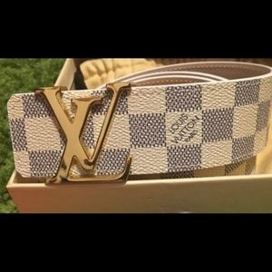 NWTS Louis Vuitton Belt in Damier Azure